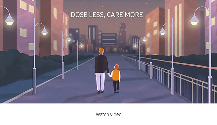 Dose Less Care More. Watch video