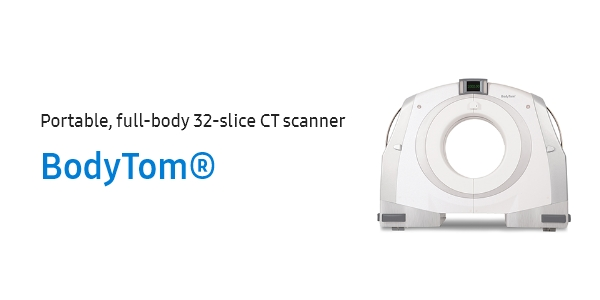 Portable, full-body 32-slice CT scanner, BodyTom